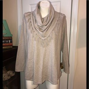 Style & Co cowl neck cotton sweater